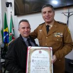 Presidente Wilsinho Pereira e o Comandante Péricles de Matos.