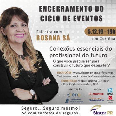 A palestra será no dia 5 de dezembro, em Curitiba.