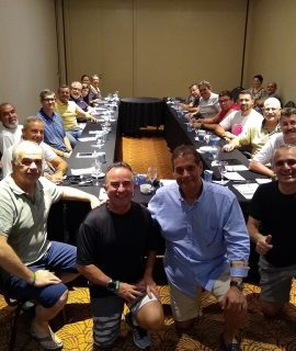 Presidente da Fenacor, Armando Vergílio, fez visita ao grupo reunido.